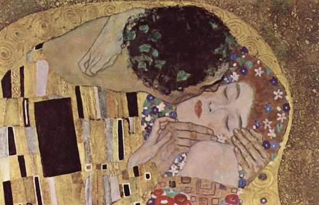 Fragmento de El beso, G. Klimt