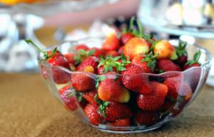 Bol de fresas