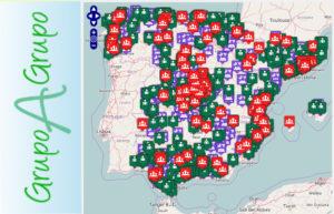 Mapa dels grups de consum de la web grupoagrupo.net.