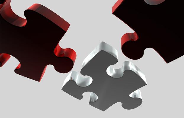 Tres peces de puzzle. Els límits entre les economies transformadores tampoc no són rectes.