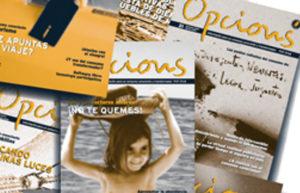 Bodegón de portadas de Opcions