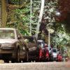 Cotxes aparcats regnat cotxe