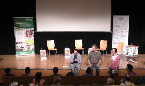 Thomas Boothe i Hernán Mazzeo durant la seva participació a les Jornadas de Economía Solidaria de REAS Aragón.