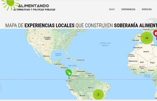 Mapa del web Alimentando alternativas