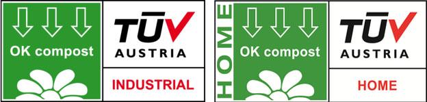 Certificació Ok Compost industrial i Ok Compost Home de la certificadora TÜV Austria